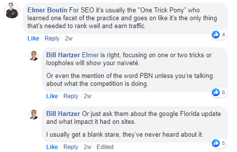SEO one trick ponies cite pbn without competitors and only do link building