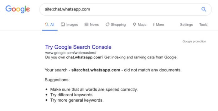 Google & Other Search Engines Found Indexing Links to Private WhatsApp Groups