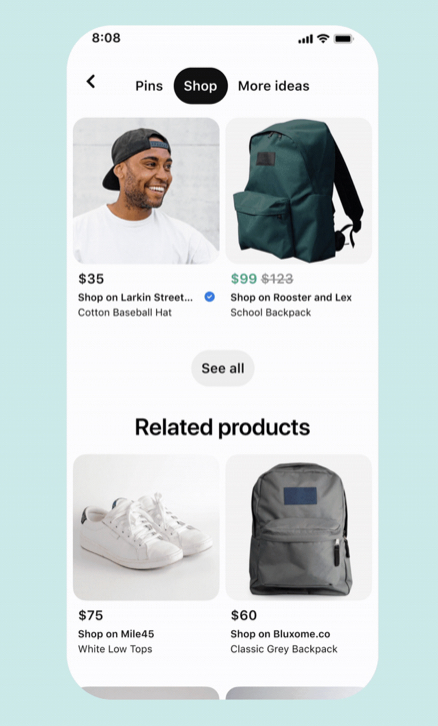 Pinterest Adds a New 'Shopping' Tab to Search Results