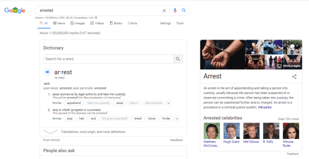 search query stopped