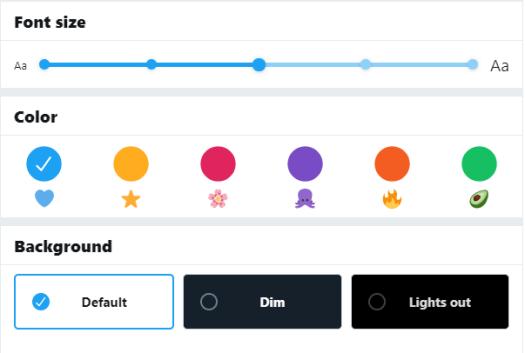 personnalisez vos couleurs et votre arrière-plan Twitter