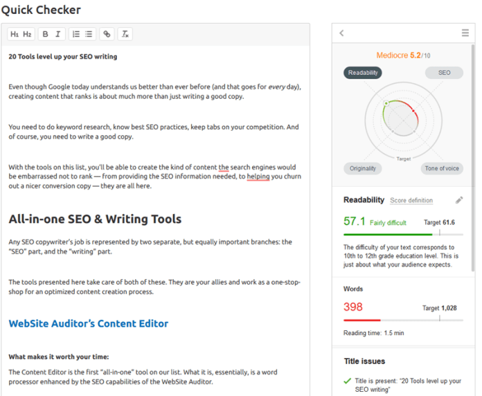 Top 25 SEO Writing Tools to Earn More Traffic From Google