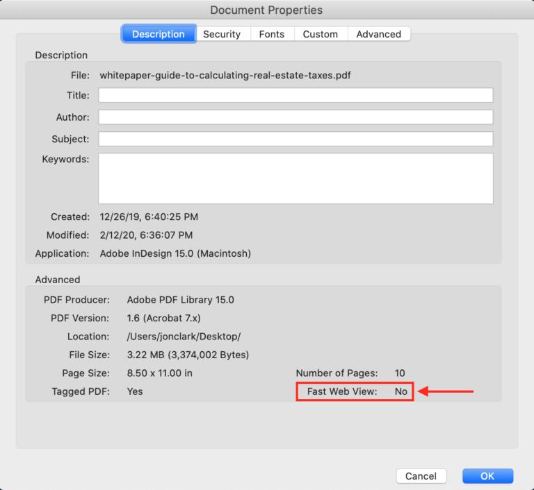 PDF Fast Web View