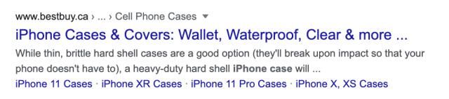 وصف ميتا من BestBuy iPhone Case
