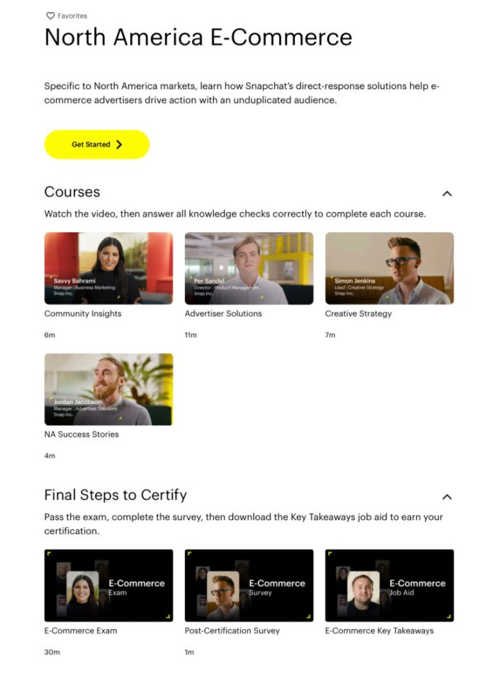 Snapchat Rolls Out More Ads Certification Courses