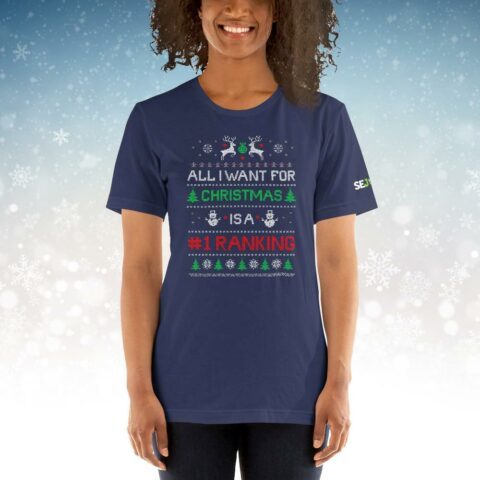 All I want for Christmas SEO T-Shirt