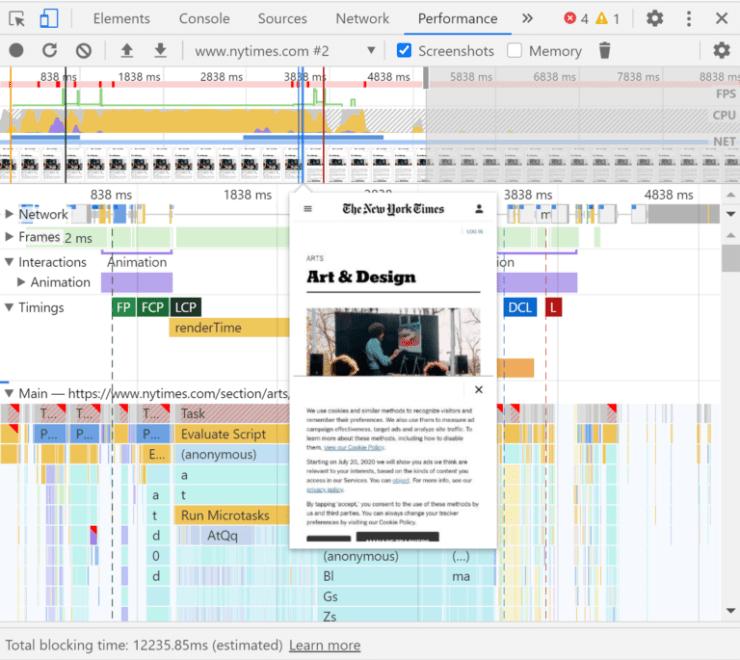 Chrome DevTools 'Screenshots' feature