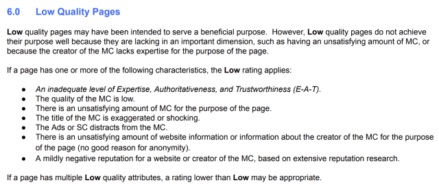 إرشادات مقيمي جودة تجربة المستخدم القسم 6.0