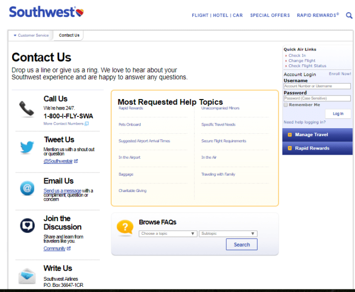 contact us page with multiple engagement options