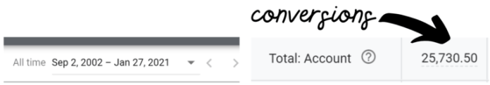 all time conversion count still shows decimals
