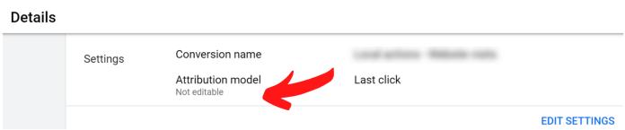 "attribution model states ""not editable"""