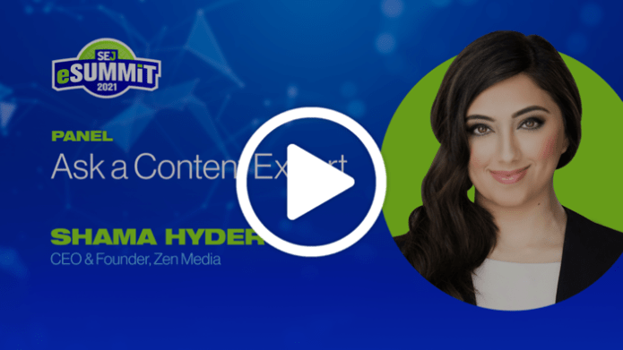 SEJ eSummit: Ask a Content Expert with Shama Hyder