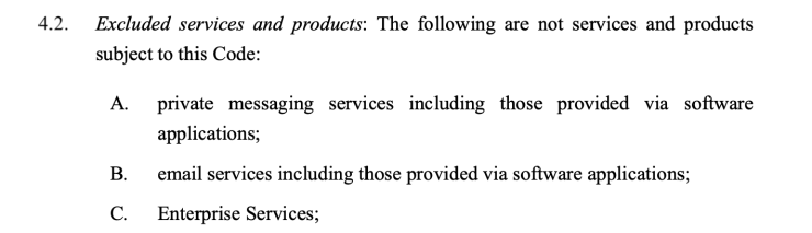 Section 4.2 of Australia's code