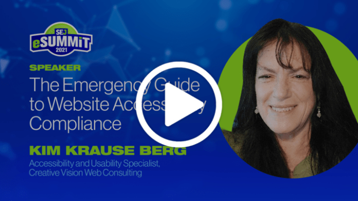 The Emergency Guide to Website Accessibility Compliance with Kim Krause Berg.