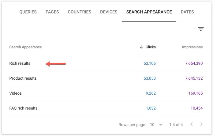 Google Search Console Removes Rich Results Search Appearance