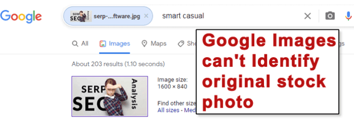 Screenshot of Google Images
