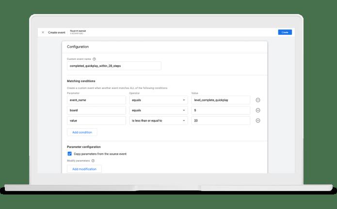 create in-app events in google analytics