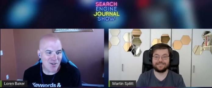 Screenshot of Loren Baker and Martin Splitt interview
