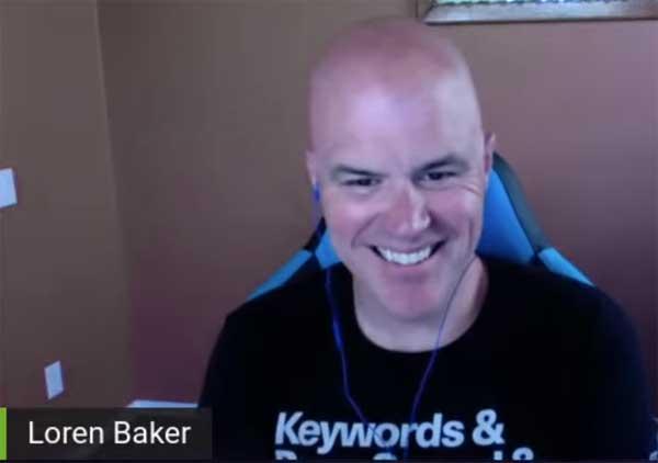 Screenshot of Loren Baker interviewing Martin Splitt