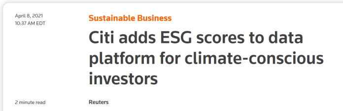 An ESG news article.