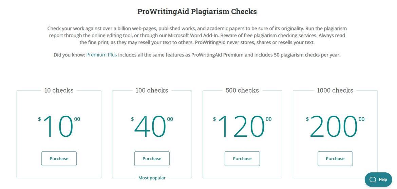 Rates of plagiarism checks tool.