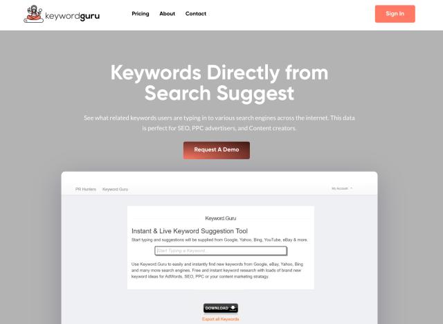 Keyword.Guru uncommon keyword research tool.
