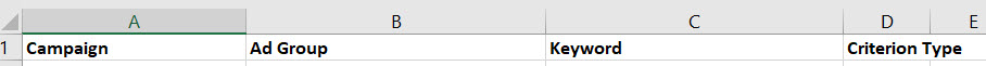 upload column headings