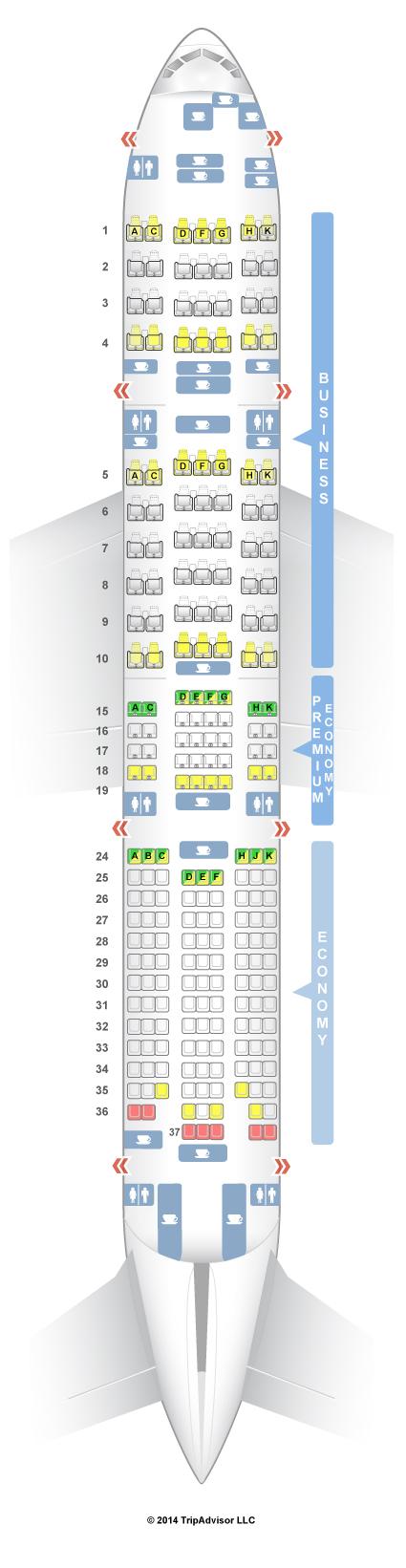 Cathay Pacific Seatguru 777 300er Wallseatco
