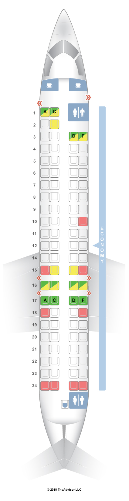 SeatGuru Seat Map SAS Bombardier CRJ 900 CR9