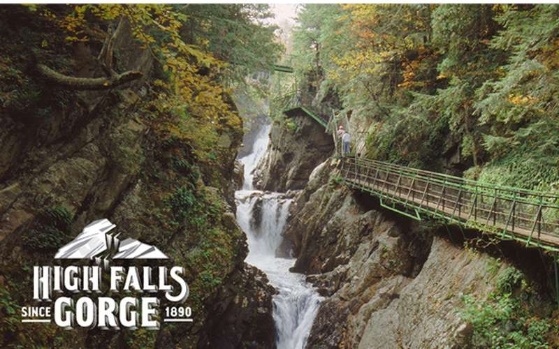 Ny Falls Lake Gorge High Placid