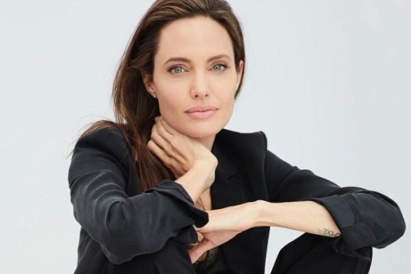 Анджелина Джоли с детьми продавала еду для собак в парке ...