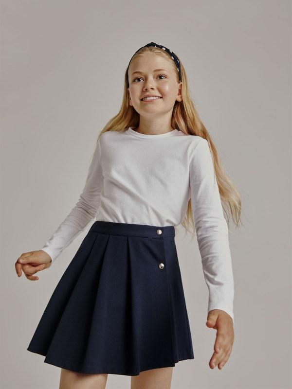 Юбка-шорты для девочек цвет: тёмно-синий, артикул ...