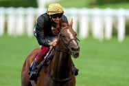 Frankie Dettori riding Stradivarius en route to win the Gold Cup. Photo: Ascot Racecourse.