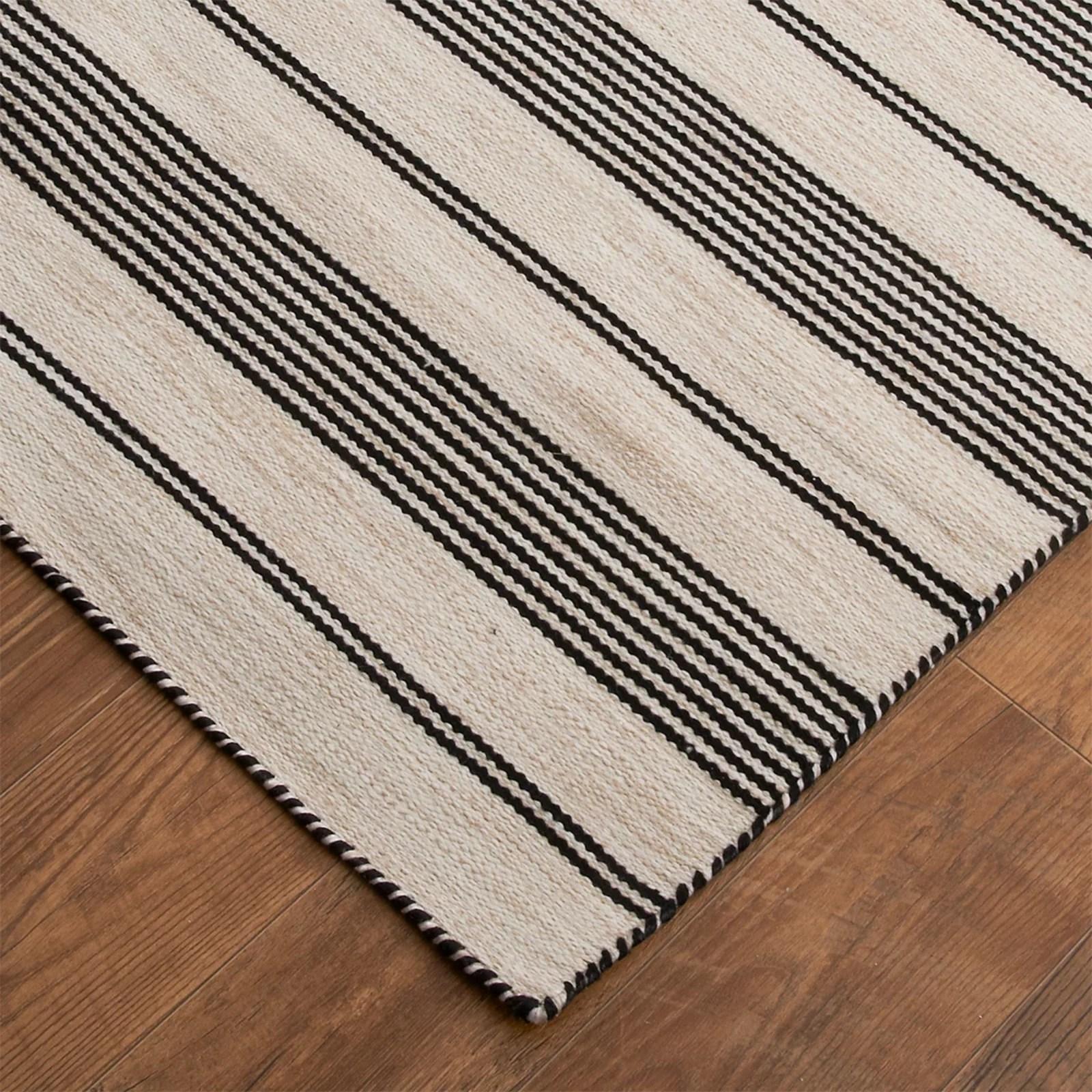 Ticking Stripe Indoor Outdoor Rug Shades Of Light