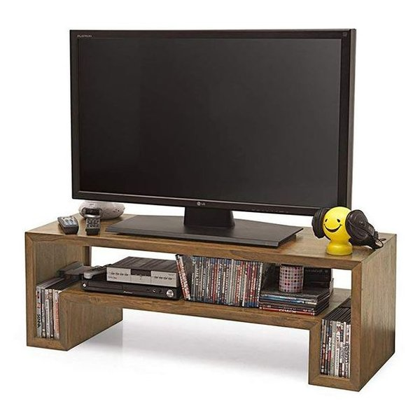 semi modern tv table 150 cm cabinet in teak color