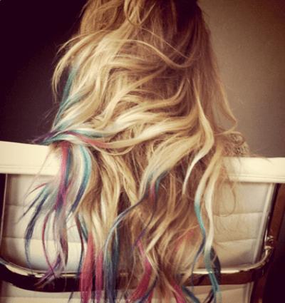 Lauren Conrad's rainbow hair