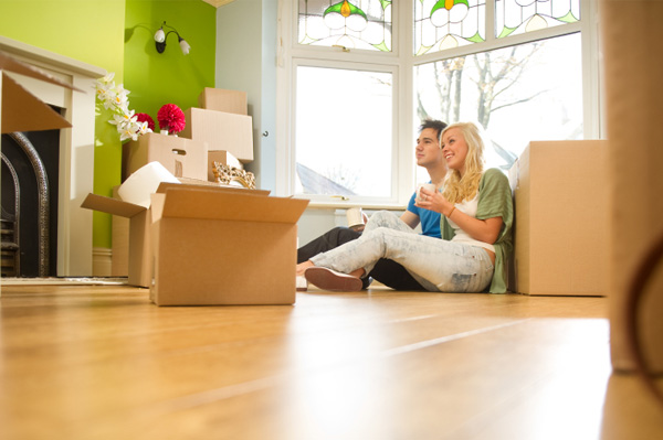 Couple moving into first home