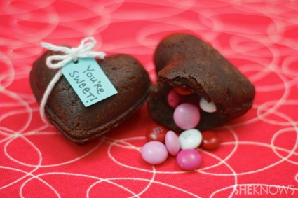 Heart-shaped brownie treasure boxes recipe