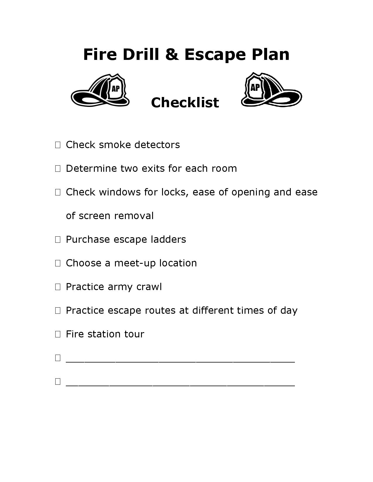 Fire Drills Escape Routes And Safety Plans