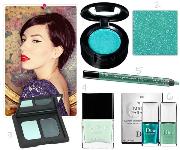 Keiko Lynn's mint makeup picks