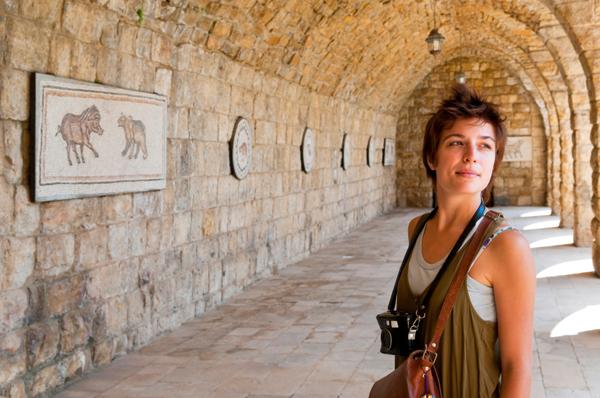 Shhh, she's actually in Lebanon...