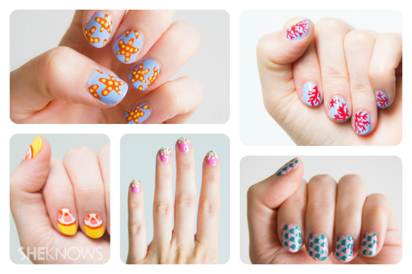 More Summer Nail Art Tutorials A Playful Design Fit For The Beach