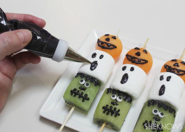 Frightful fruit kabobs