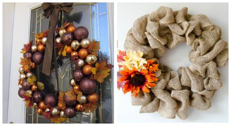 Pretty Thanksgiving Wreaths