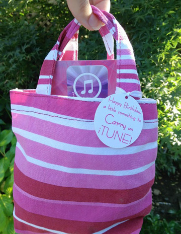 itunes mini tote bag