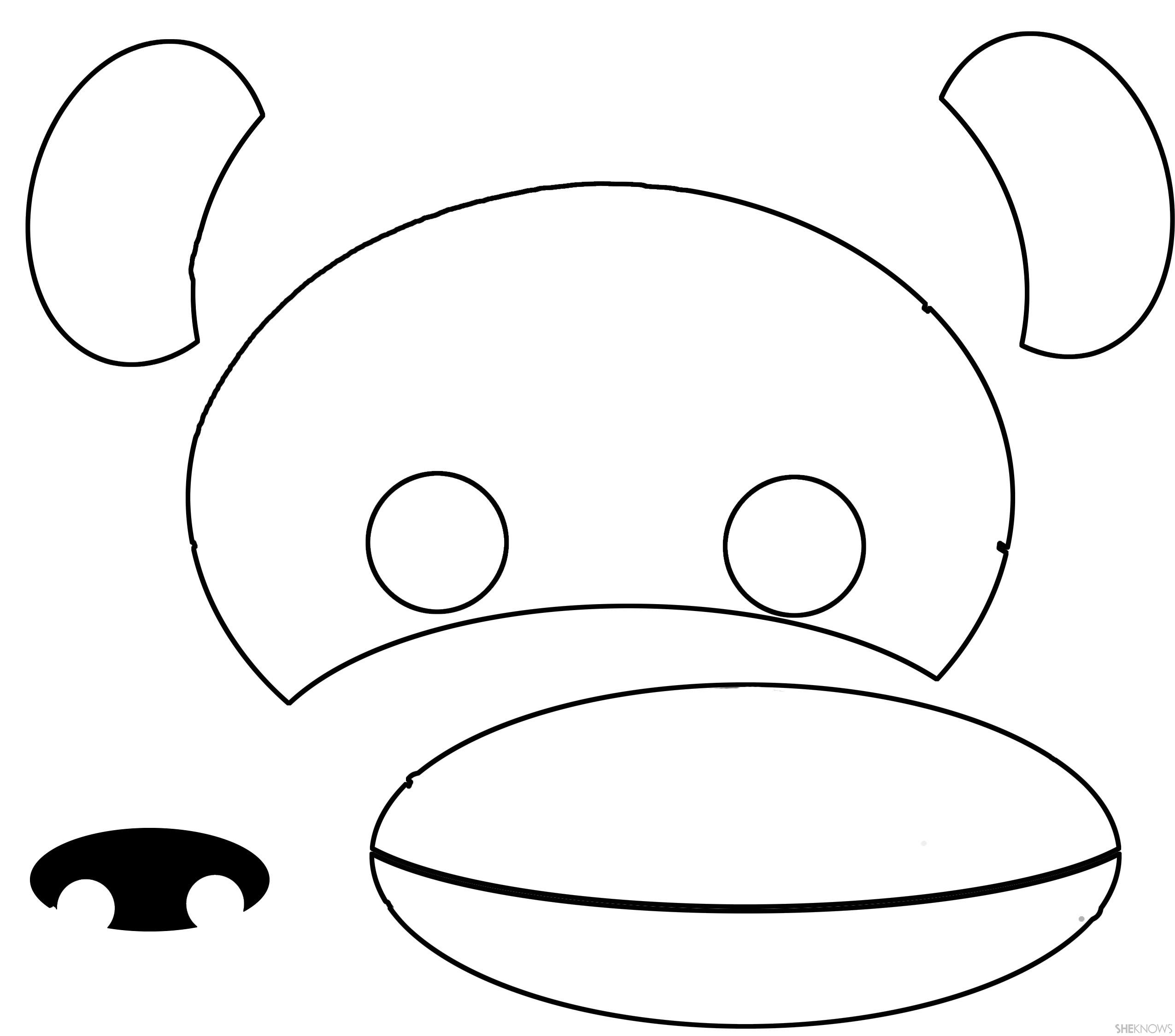 Monkey Face Printable