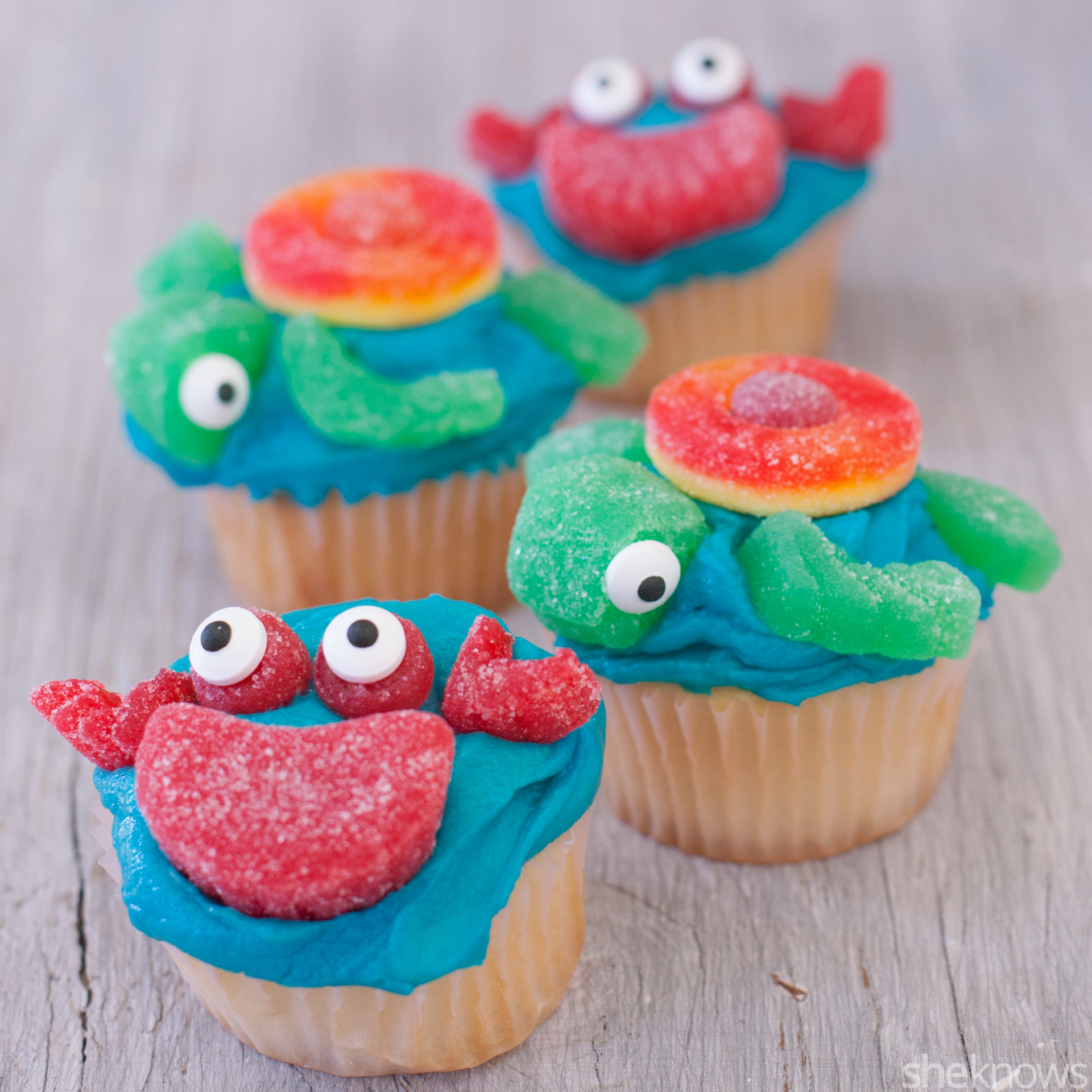 Cute Sea Creature Cupcakes Even Amateur Bakers Can Make