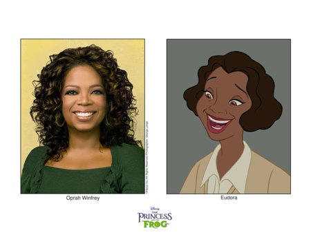 Oprah in Disney's The Frog Princess