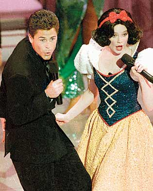 Rob Lowe and Snow White Oscars 1989