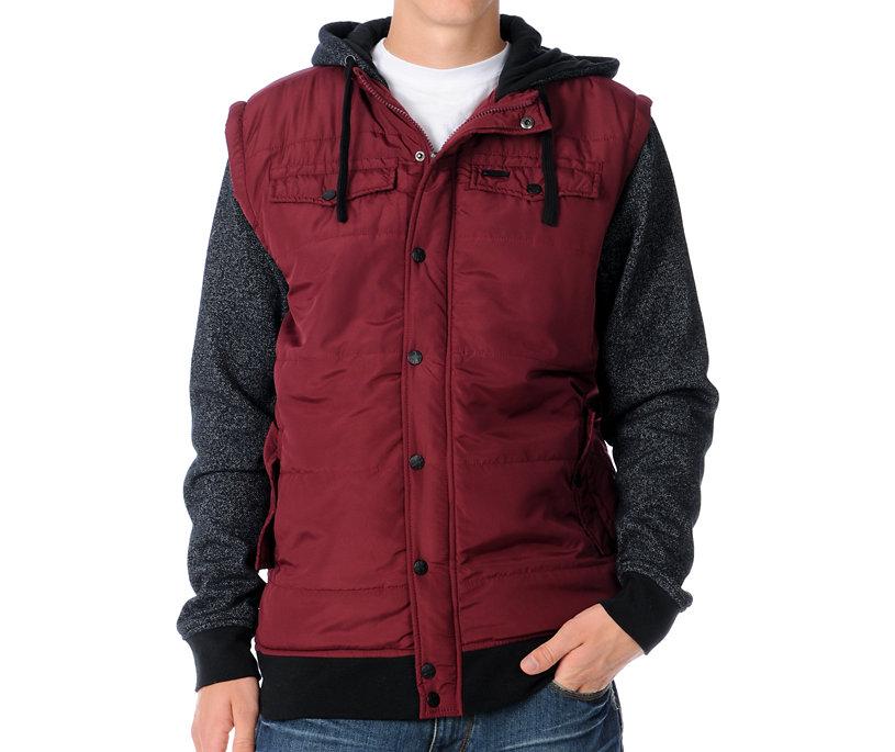 Dravus Hitman Dark Red Quilted Vest Hoodie Gift Ideas